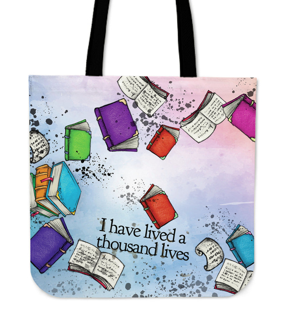 Book Reader Linen Tote
