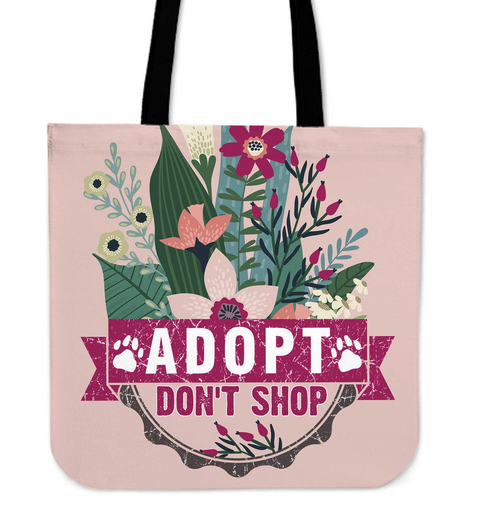 Adopt Don't Shop Linen Tote Bag