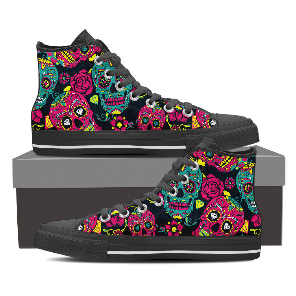 Sugar Skull Shoes Groove Bags