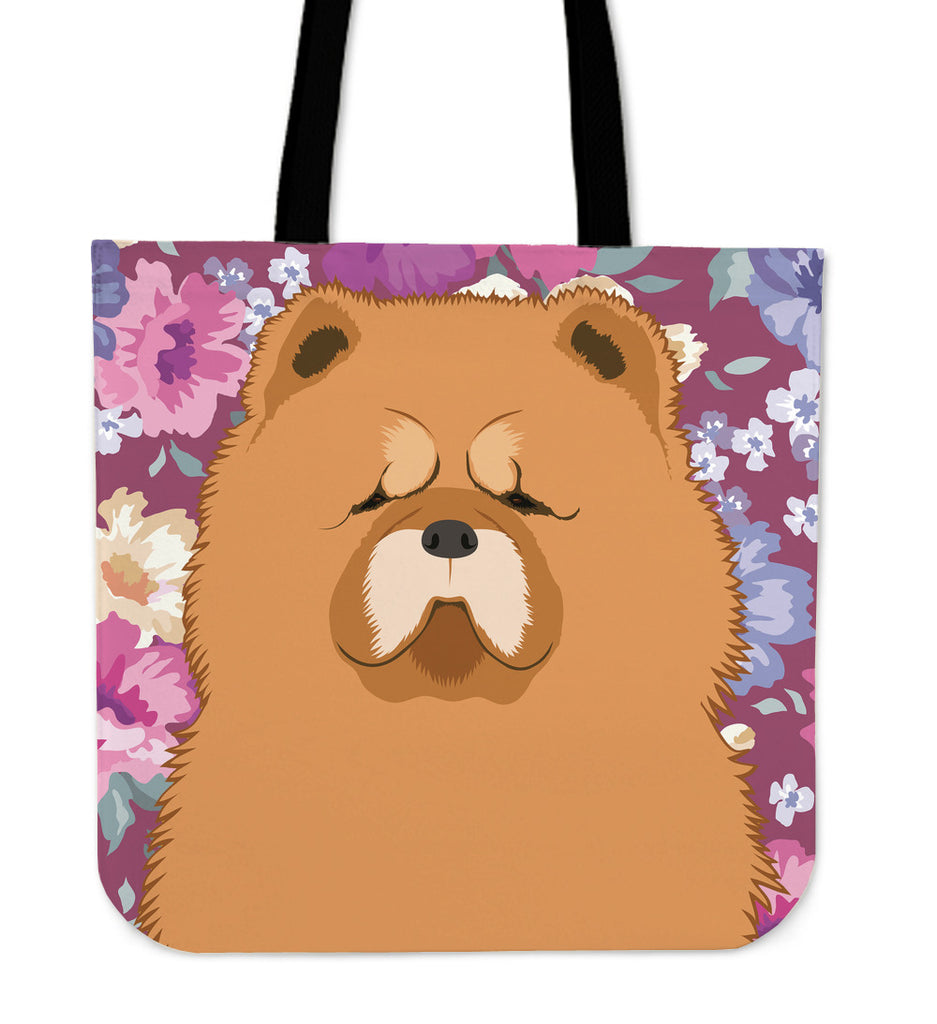 Chow Chow Dog Portrait Linen Tote Bag
