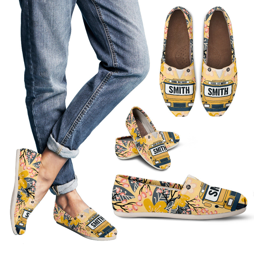 Custom School Bus Driver Casual Shoes