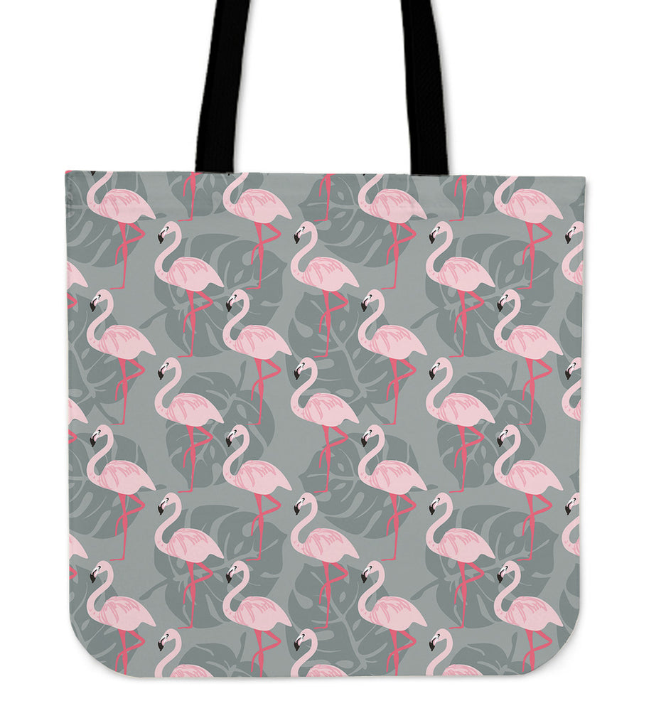 Fancy Flamingos Linen Tote Bag