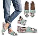 Custom Floral Pup Casual Shoes