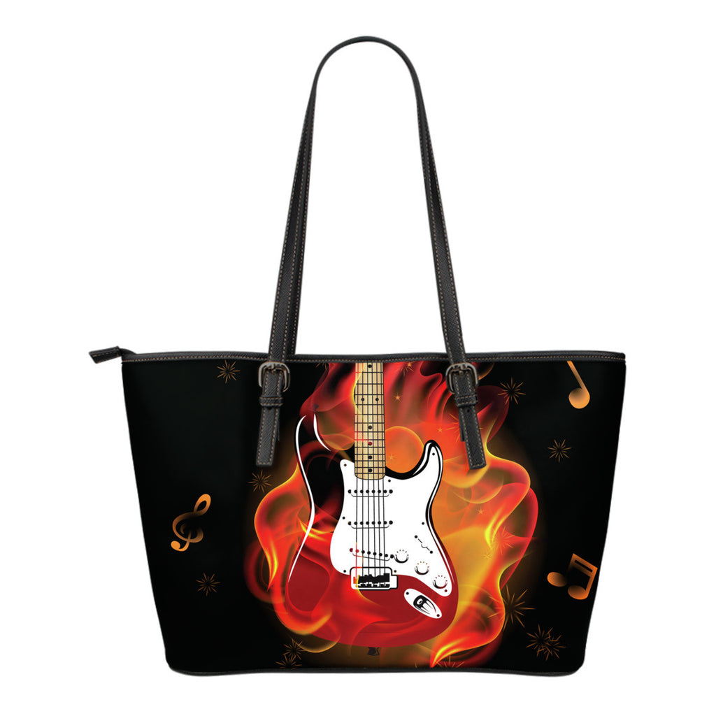 Guitar Fire Tote Bag
