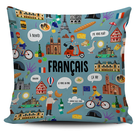 French Teacher Pillow Cover