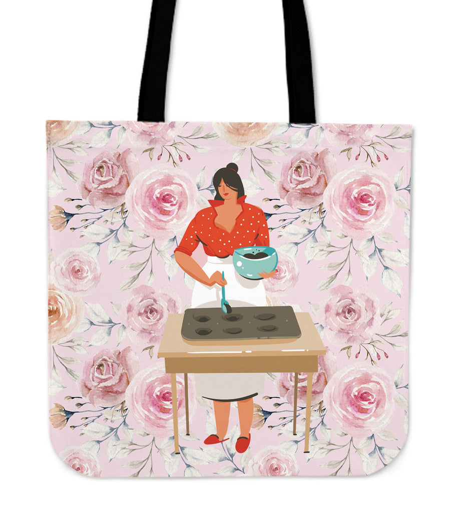 Baking Girl Boss Linen Tote Bag