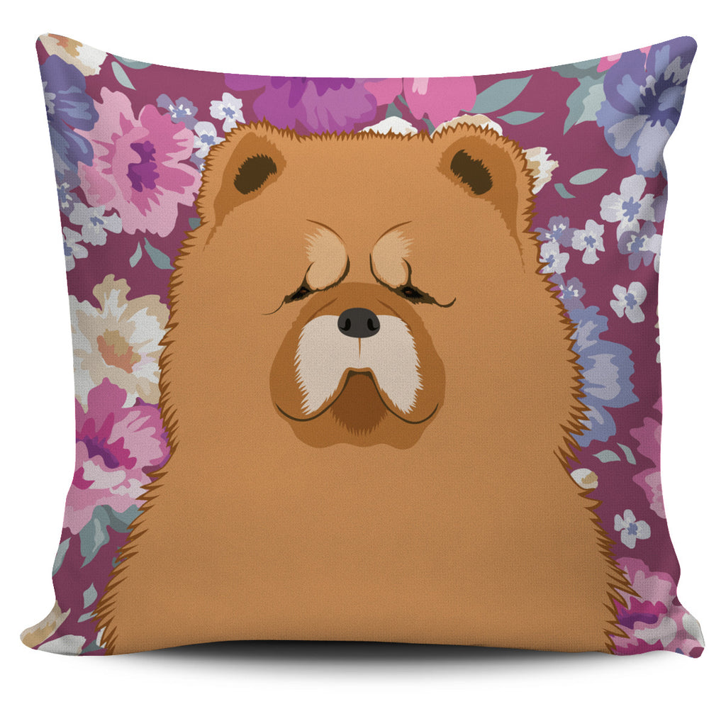 Chow Chow Dog Portrait Pillow Cover