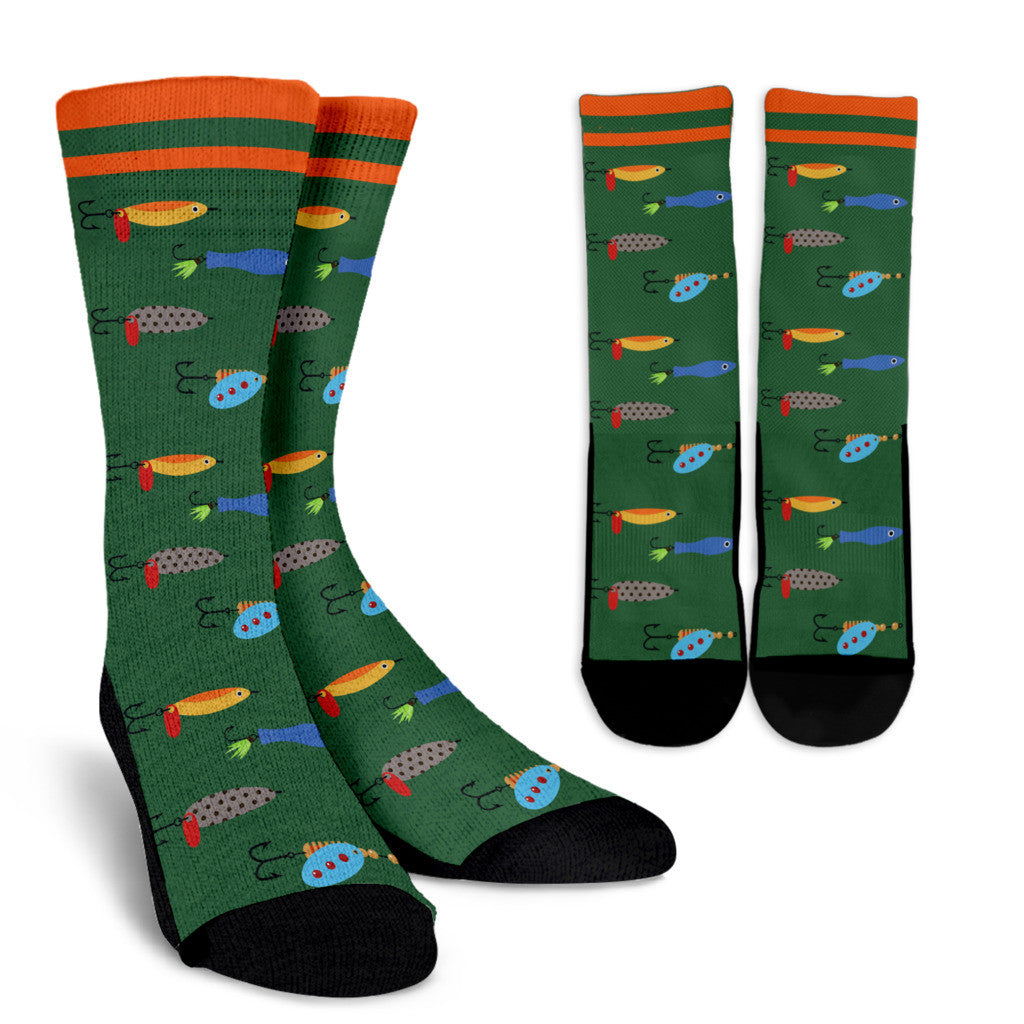 Fishing Bait Pattern Socks