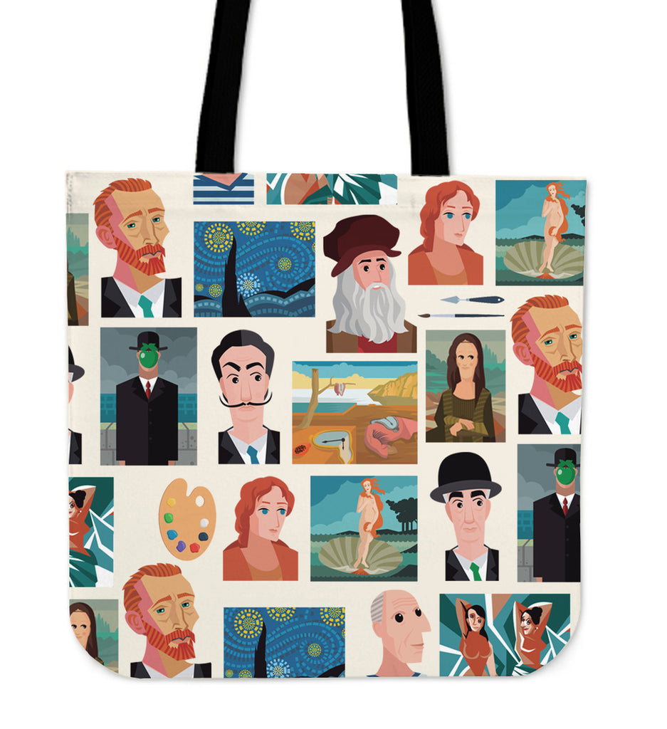 Famous Painters Linen Tote Bag