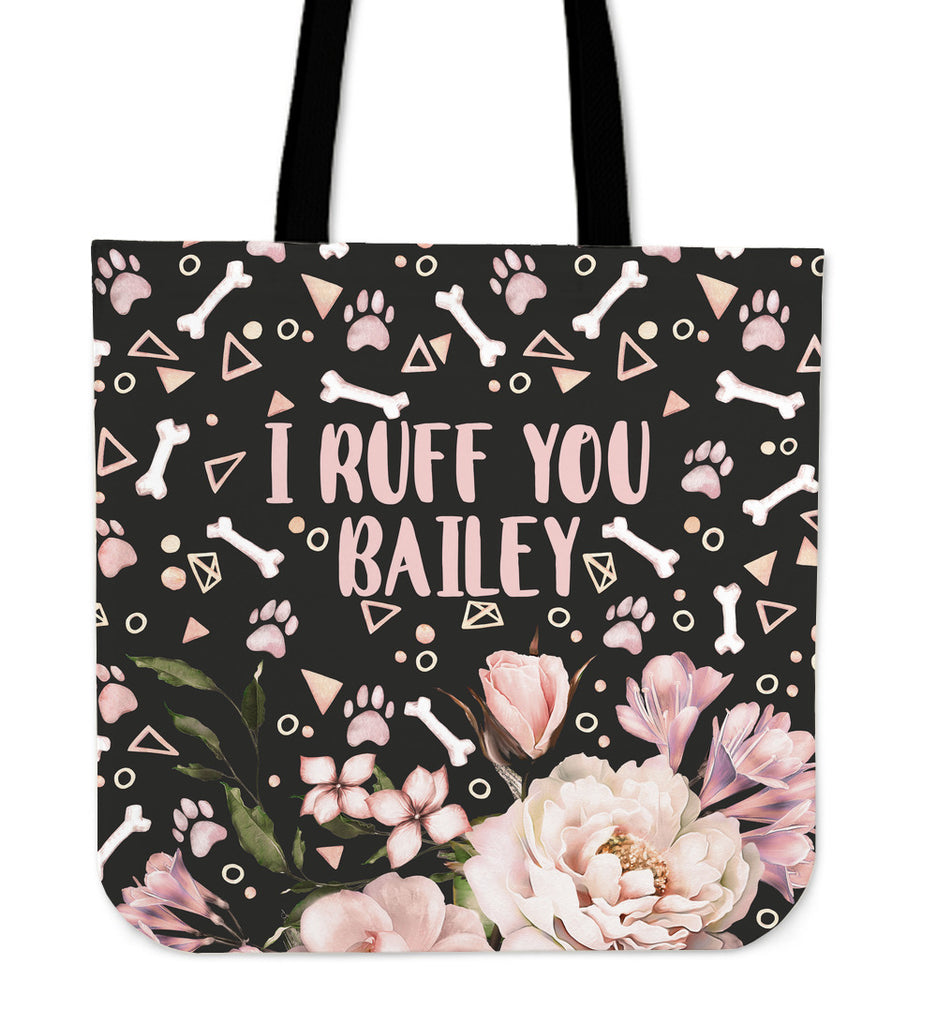 Custom Ruff You Linen Tote Bag