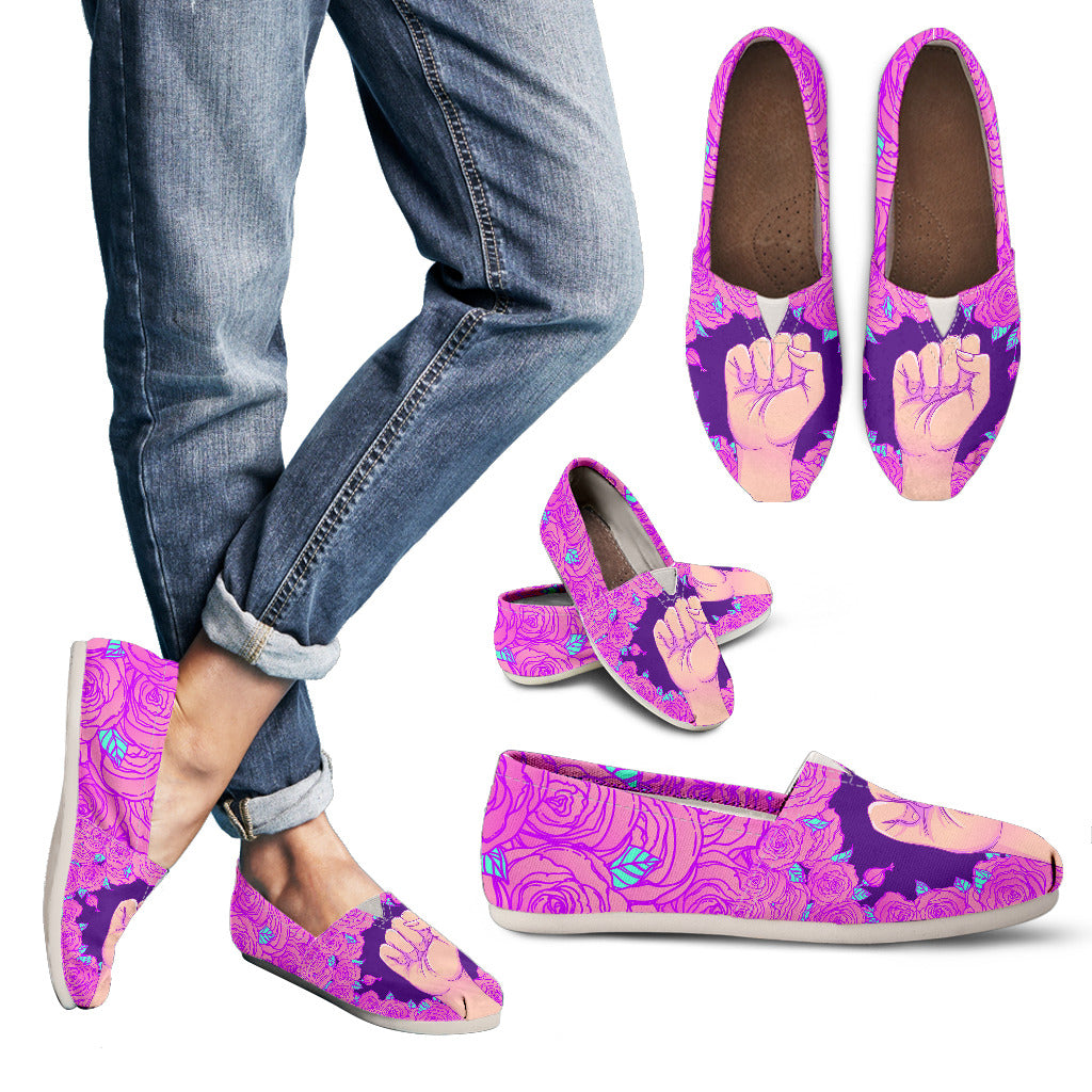 Floral Feminism Casual Shoes