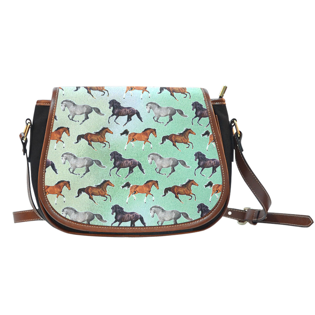 Horse Pattern Saddle Bag