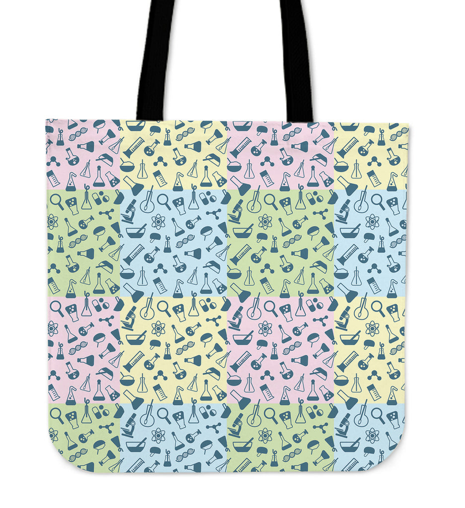 Science Symbols Linen Tote Bag