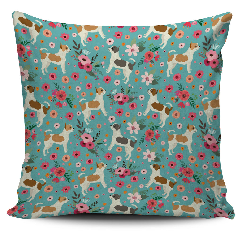 Chihuahua Flower Pillow Cover