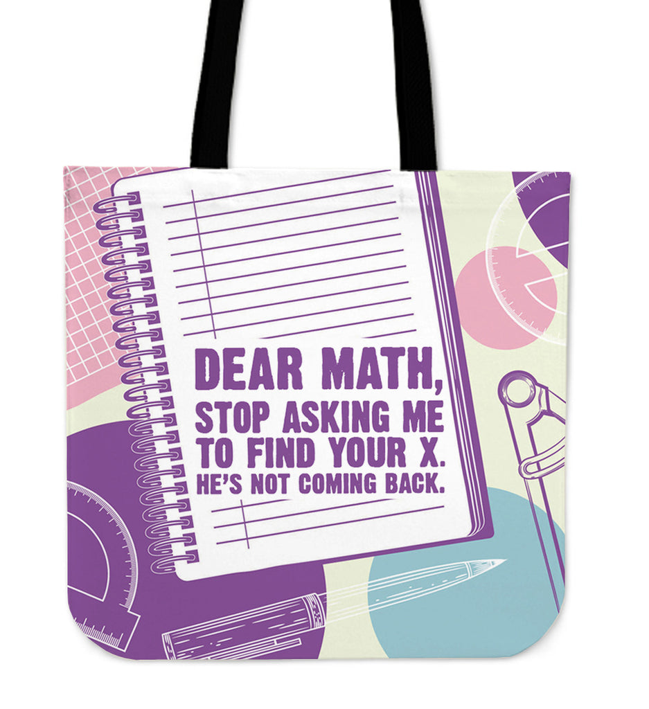 Dear Math Linen Tote Bag