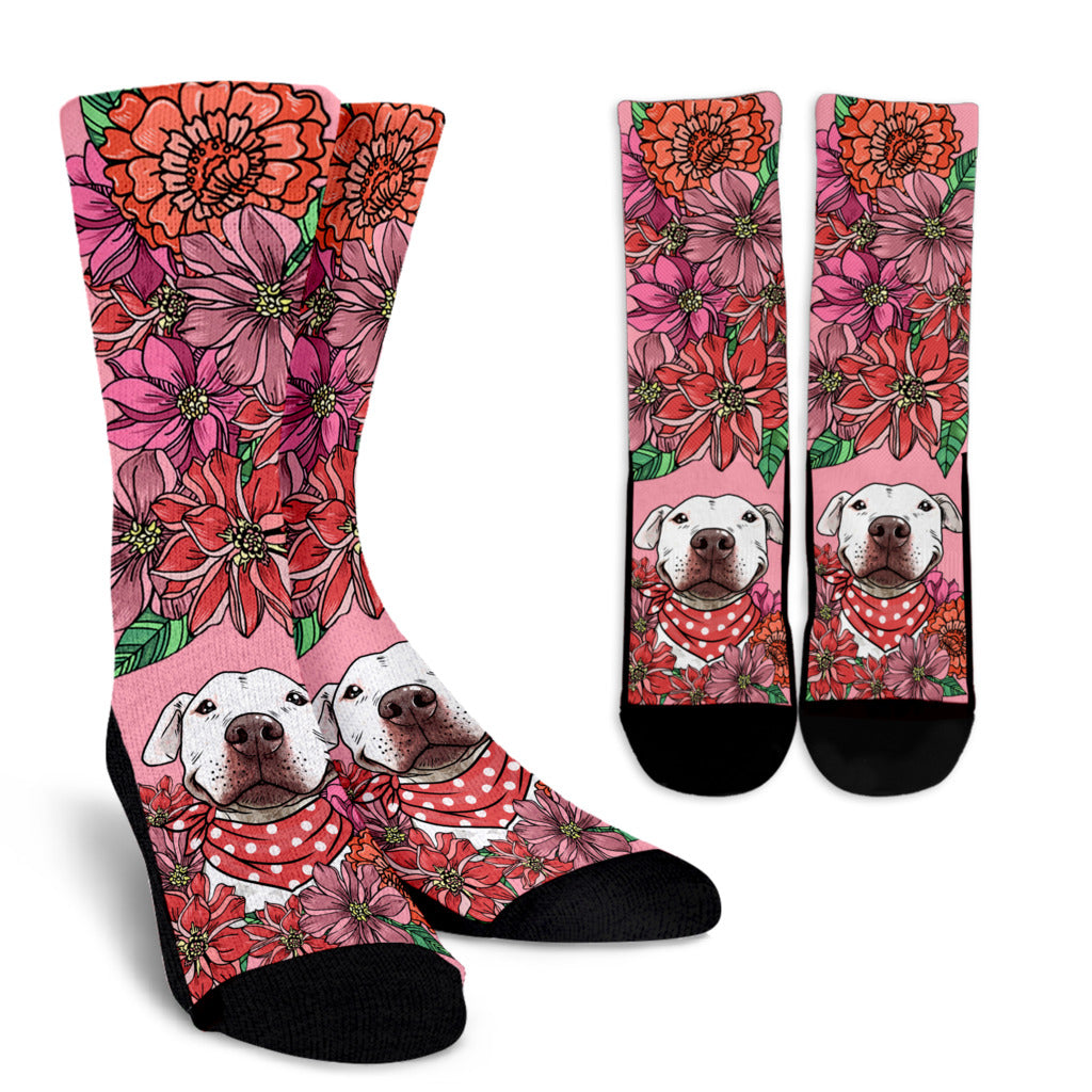 Illustrated Pit Bull Socks - Promo
