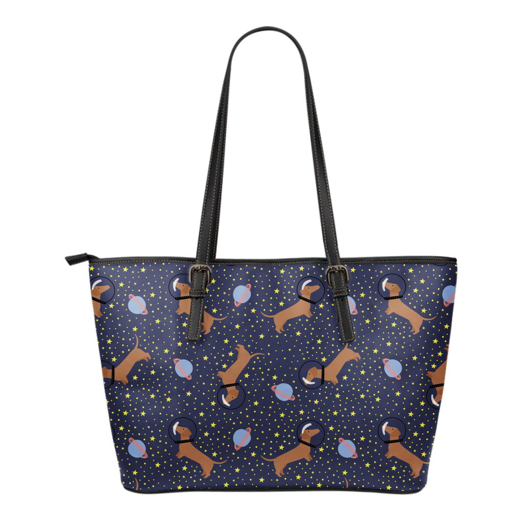 Space Dachshund Tote Bag