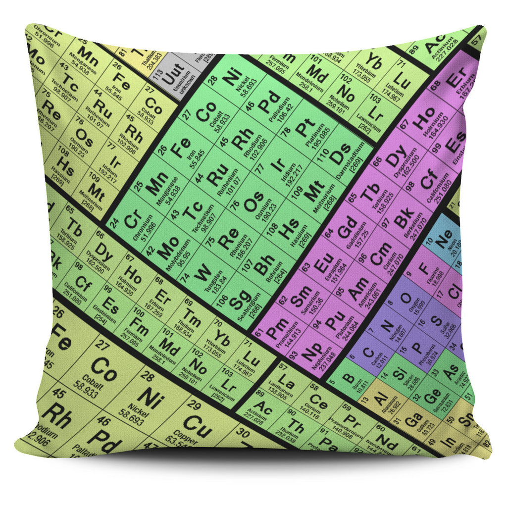 Periodic Table Pillow Case