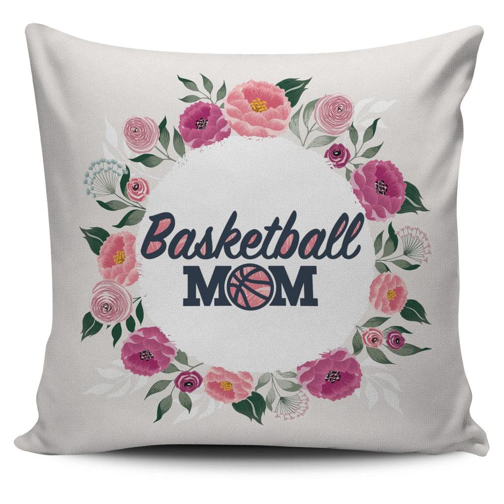 Basketball Mom Pillow Cover