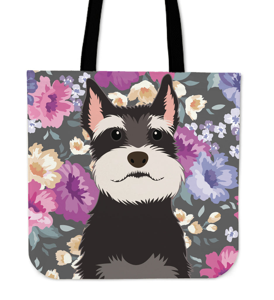 Schnauzer Dog Portrait Linen Tote Bag