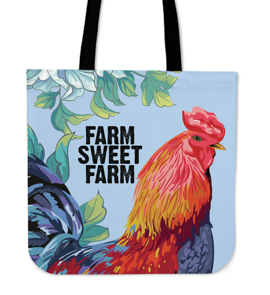 Farm Sweet Farm Linen Tote Bag