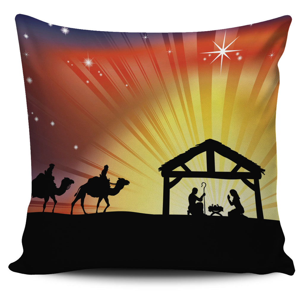 Bright Manger Pillow Cover