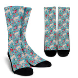 English Setter Flower Socks