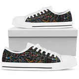 Colorful Math Formula Low Tops-Clearance