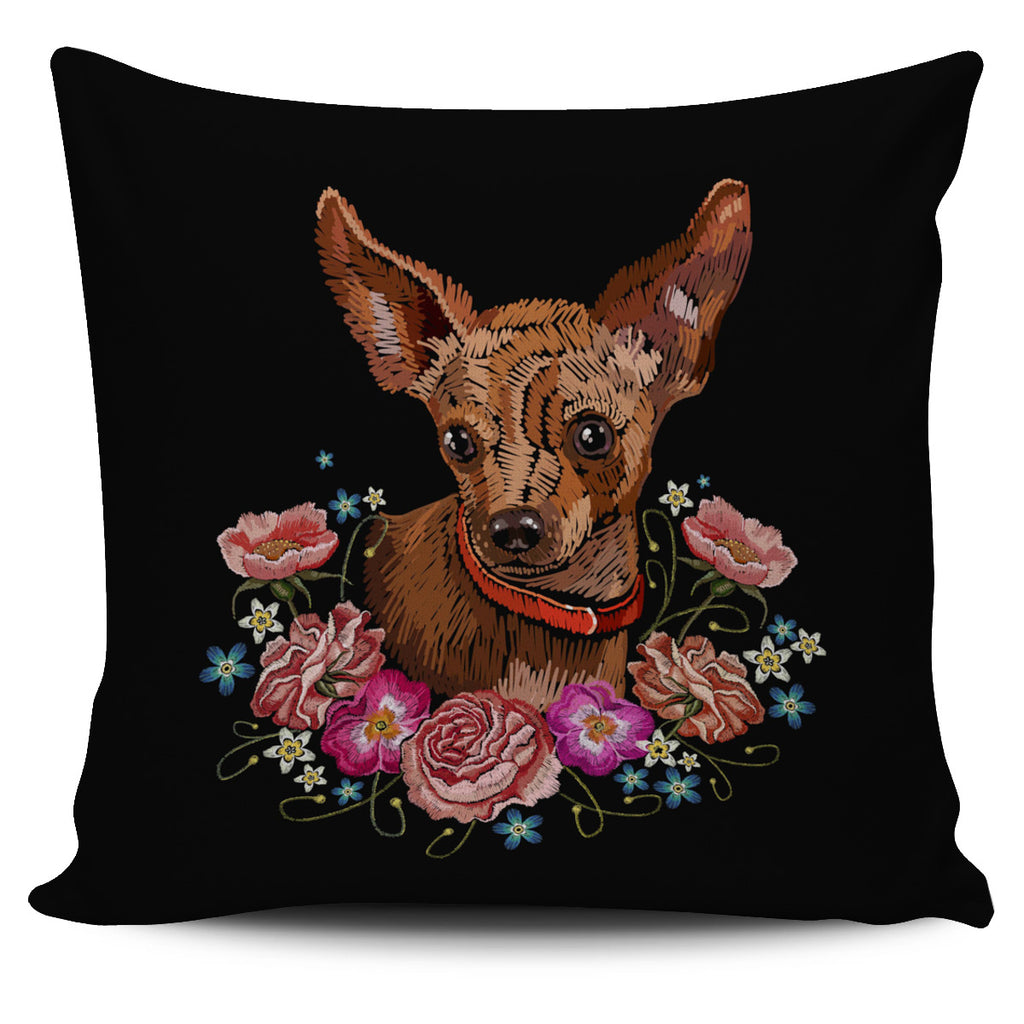 Embroidery Chihuahua Pillow Cover
