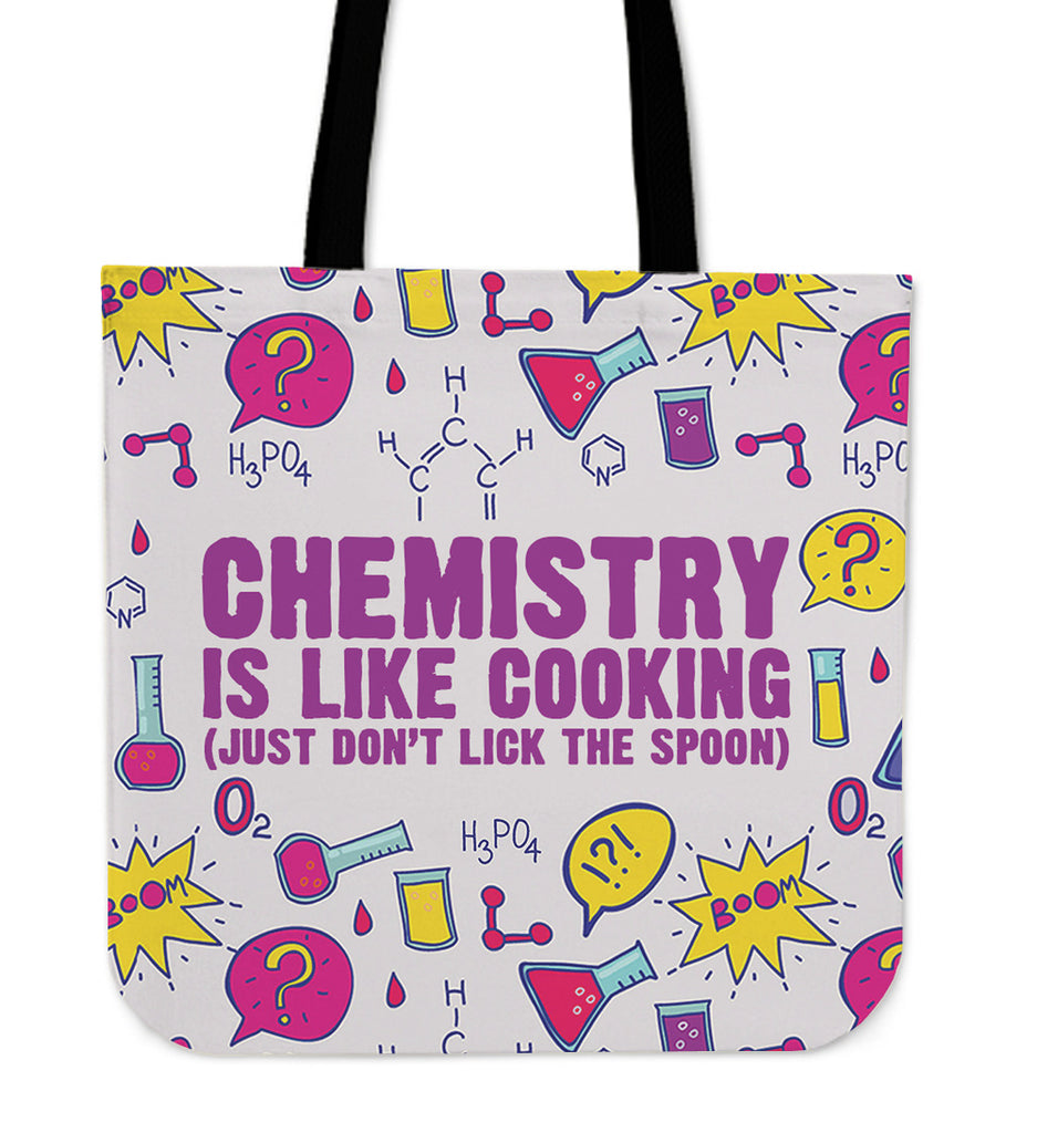 Chemistry Cooking Linen Tote Bag