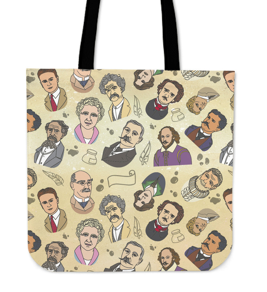 Famous Writers Linen Tote Bag