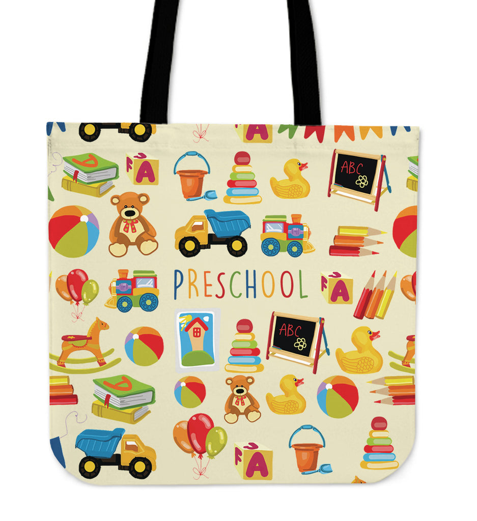 Preschool Teacher Linen Tote Bag