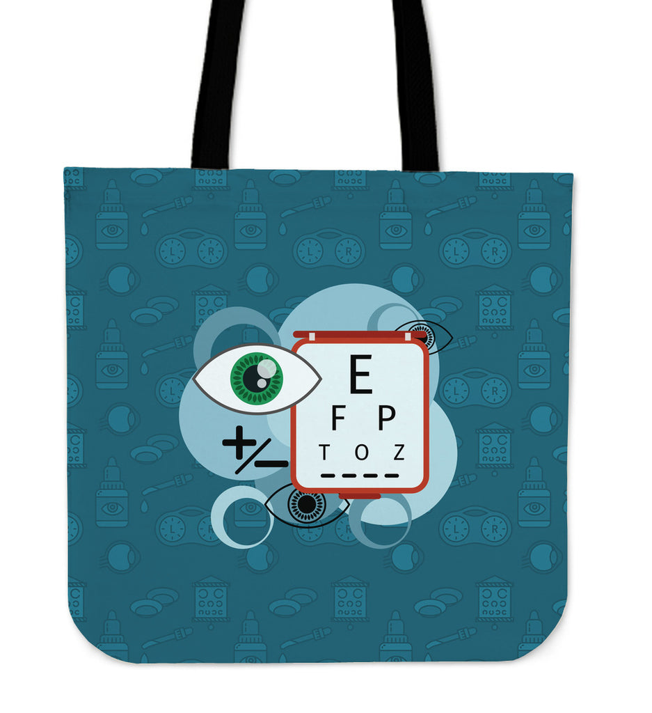 Optometrist Linen Tote Bag
