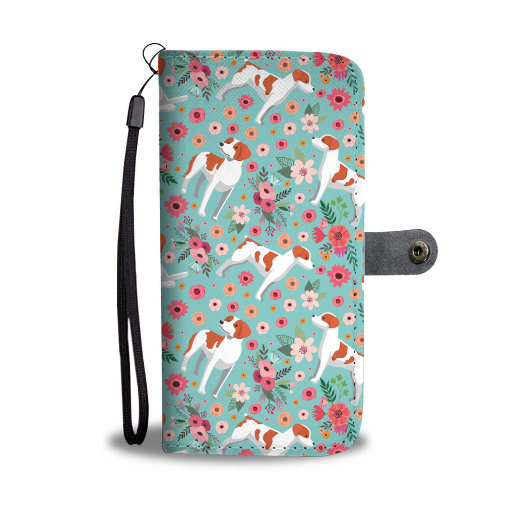 Brittany Flower Wallet Phone Case