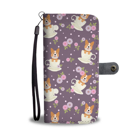Corgi Cup Of Tea Wallet Phone Case