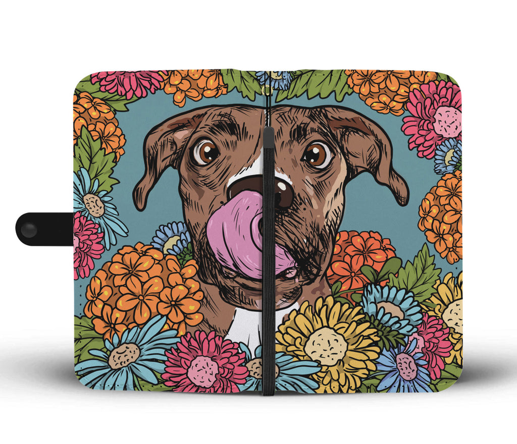Illustrated Boxer Wallet Phone Case