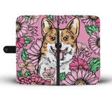 Illustrated Corgi Wallet Phone Case