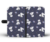 Space Bichon Frise Wallet Phone Case
