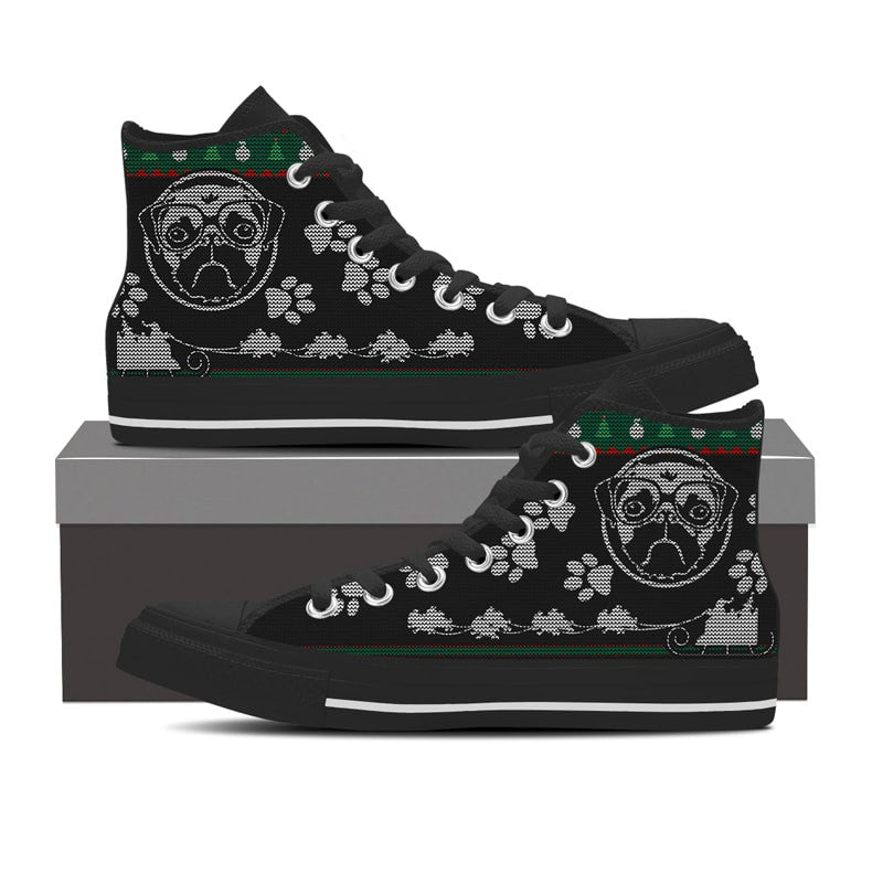 Ugly Pugs Women's Casual Shoes Sneakers Boat Sports Print Designer