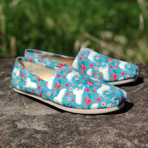 Great Pyrenees Flower Casual Shoes