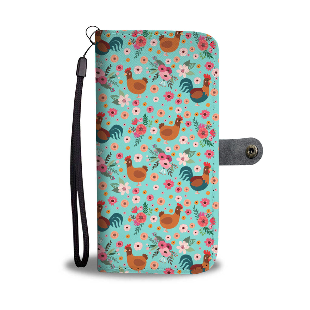 Chicken Flower Wallet Phone Case