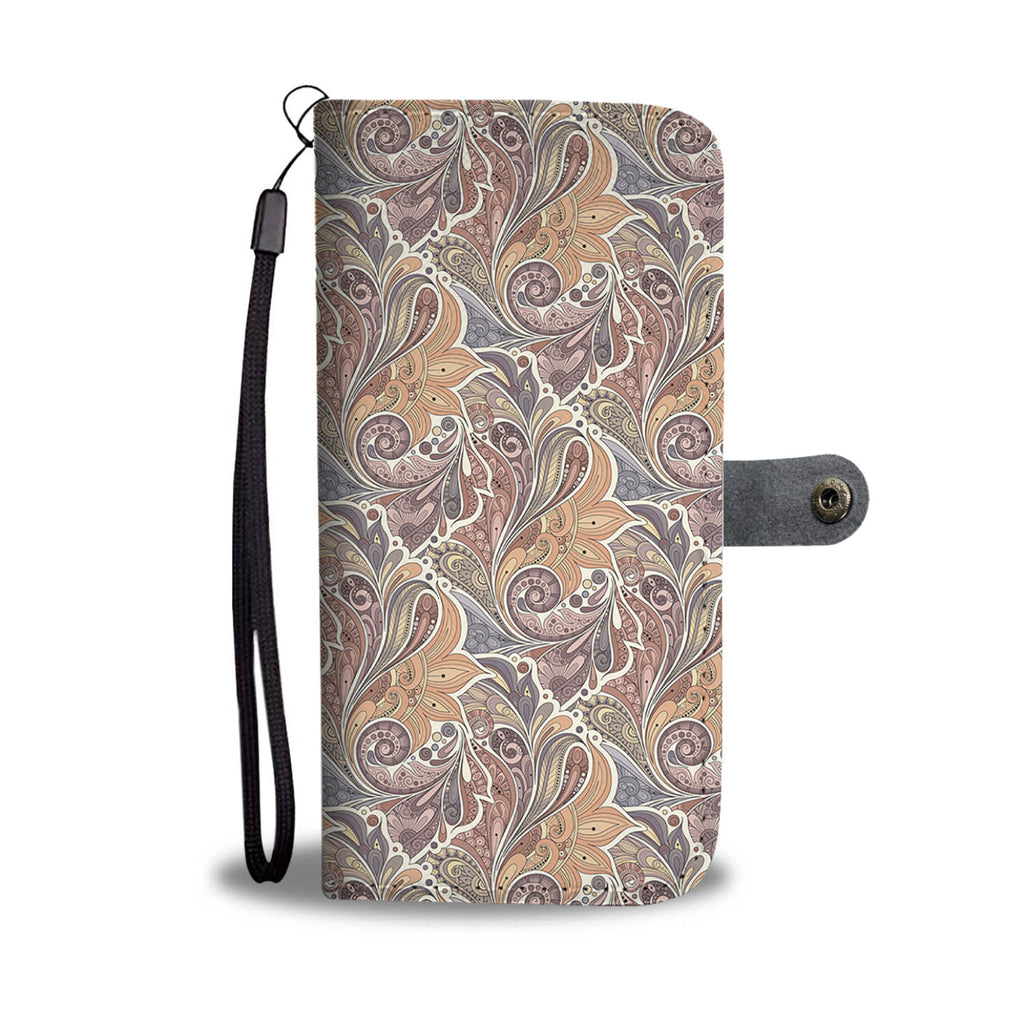 Bohemian Paisley Wallet Phone Case