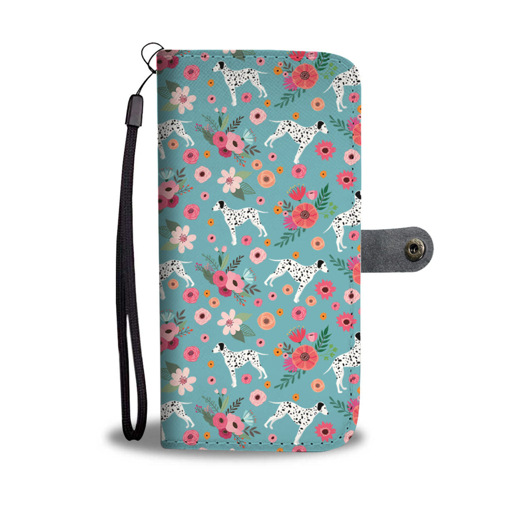 Dalmatian Flower Wallet Phone Case-Clearance
