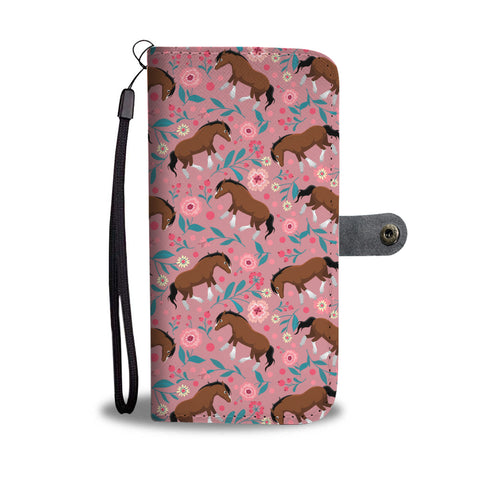 Clydesdale Floral Wallet Phone Case