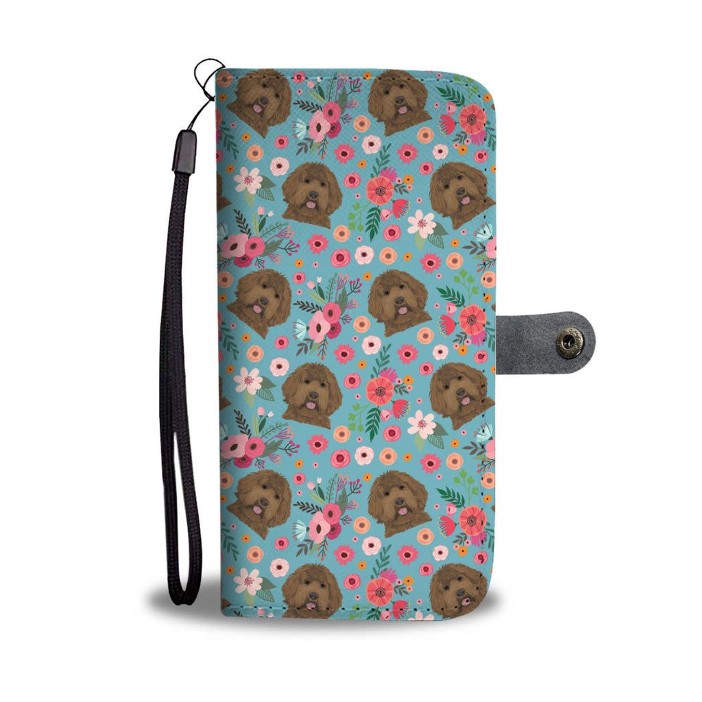 Labradoodle Flower Wallet Phone Case