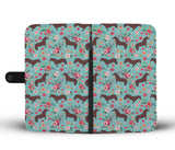 English Thoroughbred Flower Wallet Phone Case