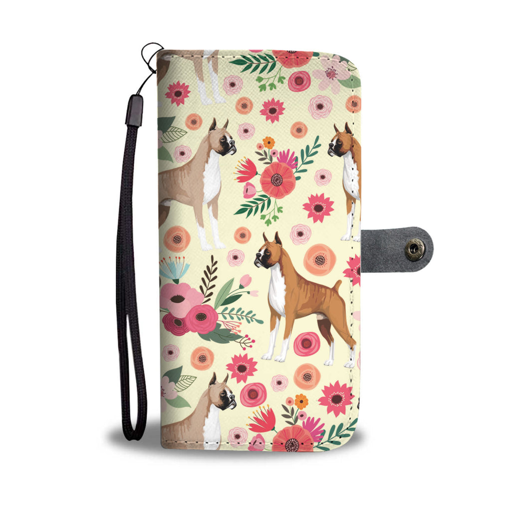 Boxer Flower Wallet Phone Case