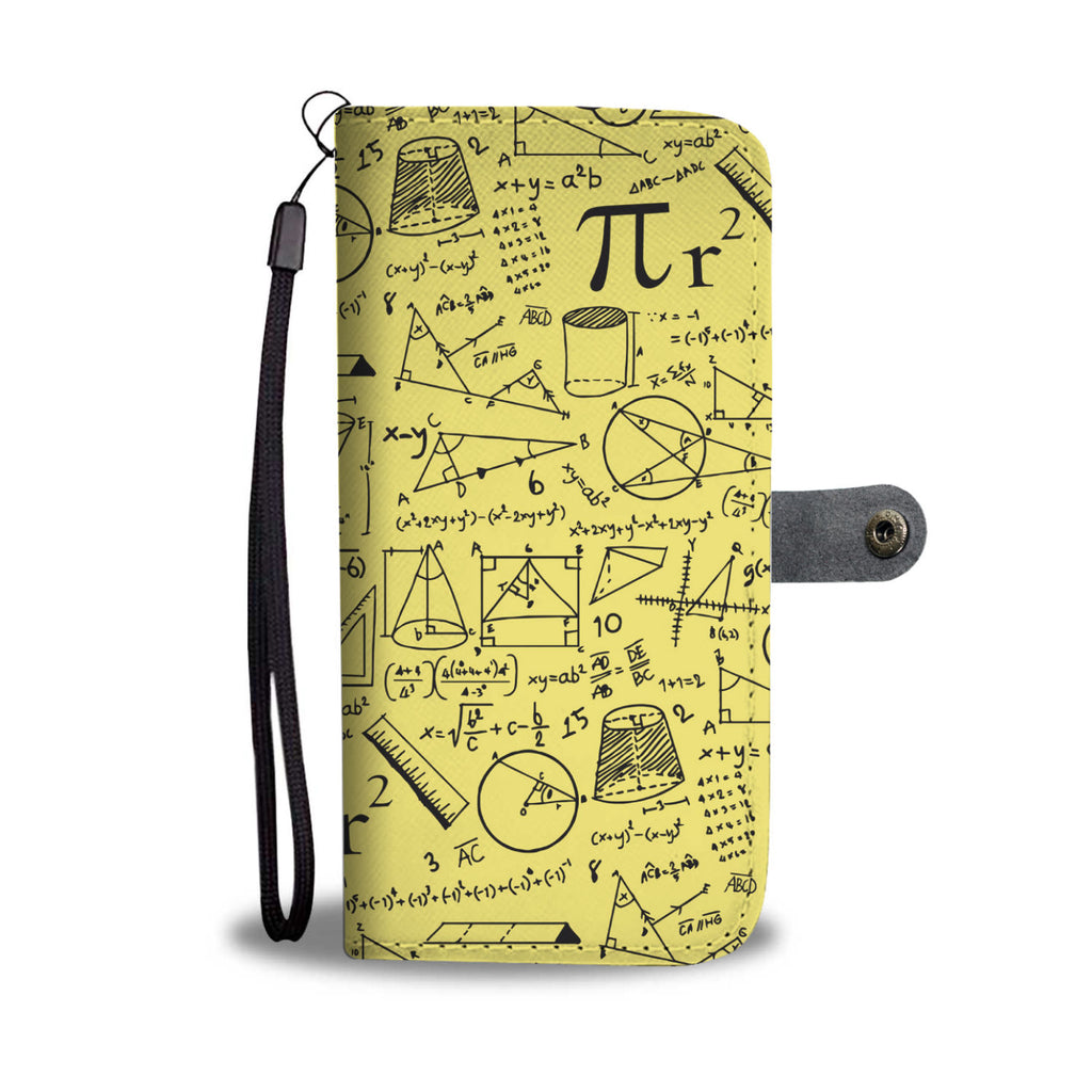 Math Pattern Wallet Phone Case