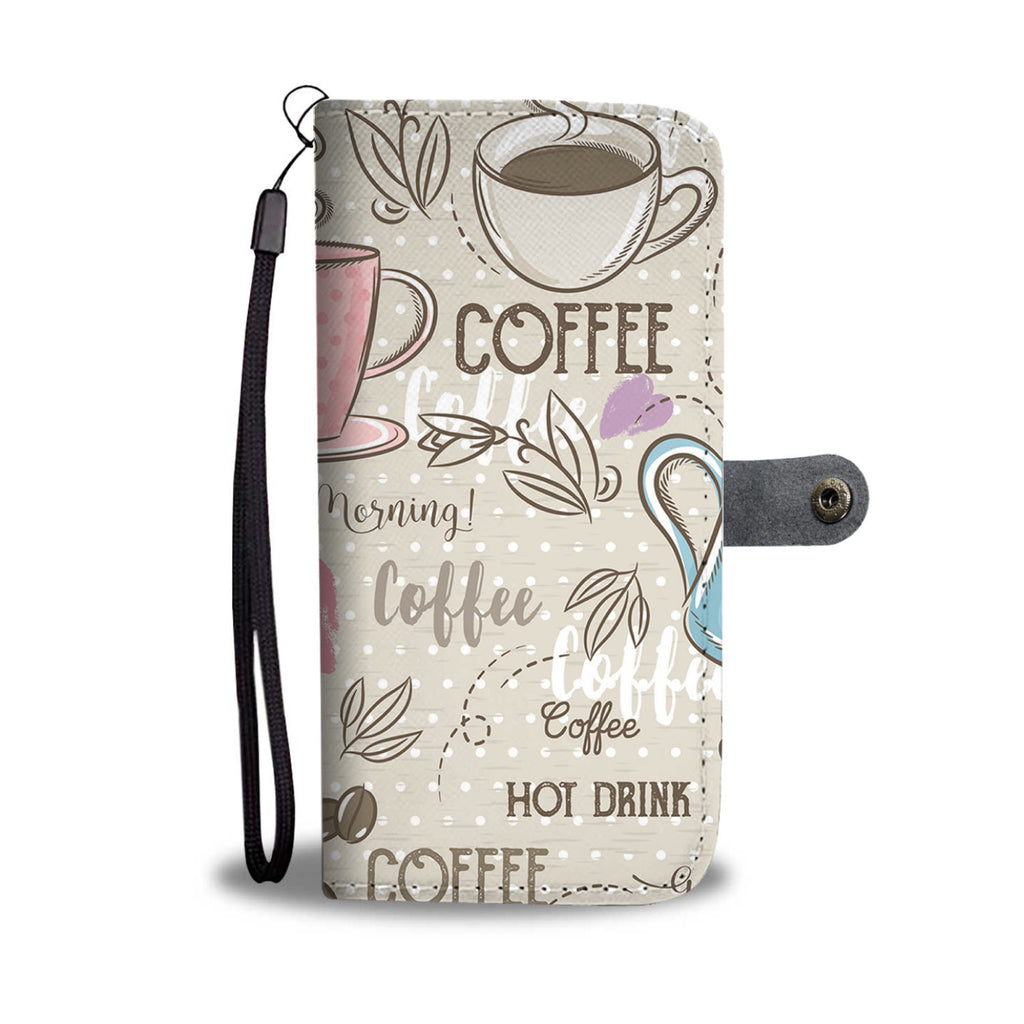 Coffee Love Wallet Phone Case-Clearance