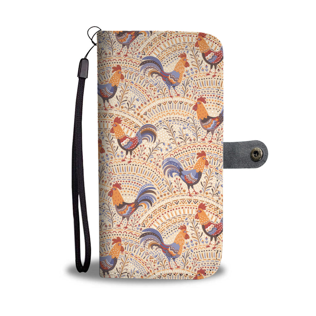 Bohemian Rooster Wallet Phone Cover